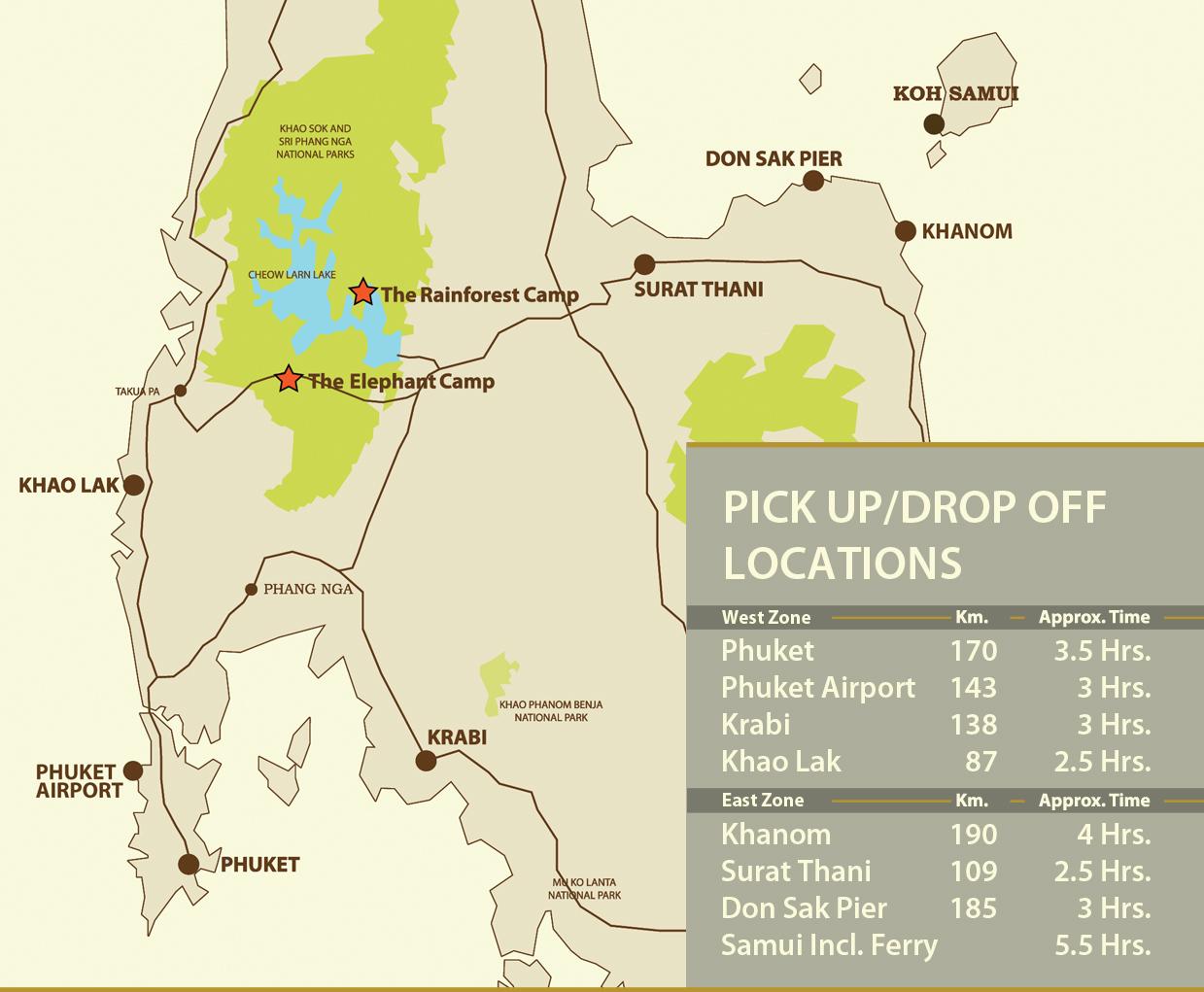 Malaria Karte Thailand.Thailand Rundreise Gruppe Elephant Hills Camp Jungle